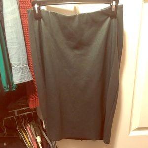 Anthro Forest green pleater midi skirt